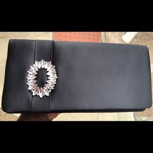 Adrianna Papell Brooch Black Clutch